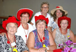 The Red Hat luncheon is always well attended Photo by Barb Turner
