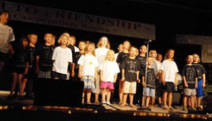 The youth sang at the Teen Queen Pageant Photo by Campvention Photographer